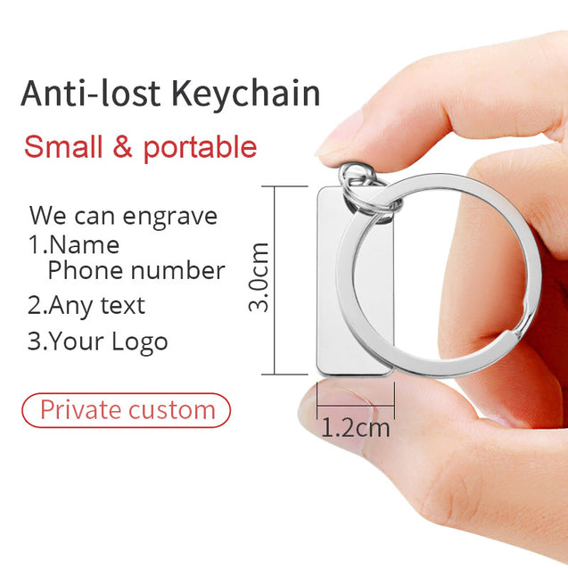 Drive Safe Personalized Key Chain