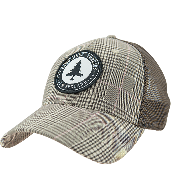 54b6e97ff44 Badge Trucker Cap - Brown Glen Plaid Brown – Endurance Threads