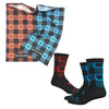 Maple Check Wool Buff & Sock Bundle