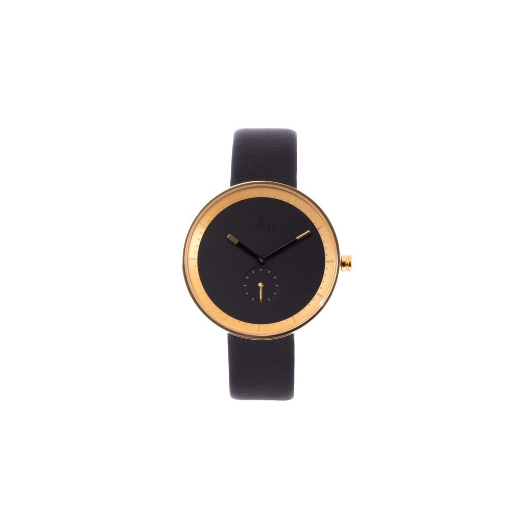 The Santo Marin in Gold w/ Leather Band