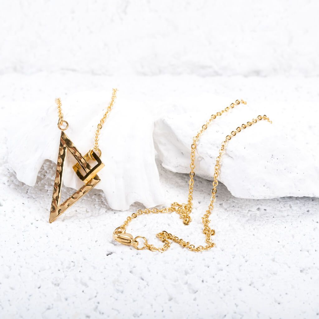 The Geometric Necklace in Gold