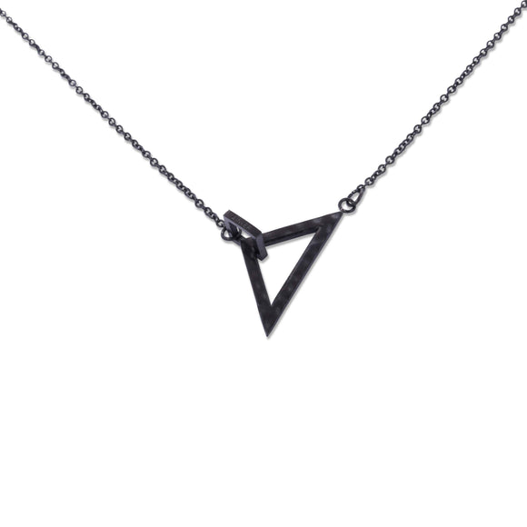 Geometric Necklace x Black