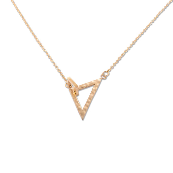Geometric Necklace x Gold