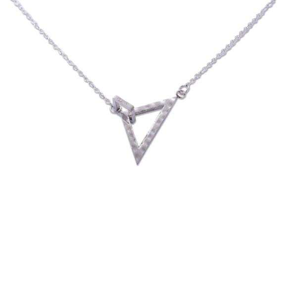 Geometric Necklace x Silver
