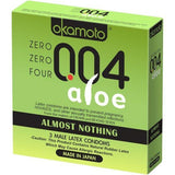 Okamoto 004 Aloe Zero Zero Zero Four Condoms 3 pack