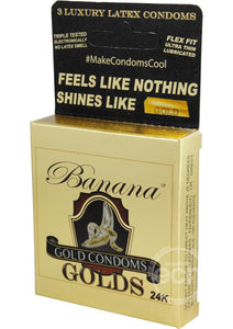 Banana Golds Latex Condoms #makecondomscool