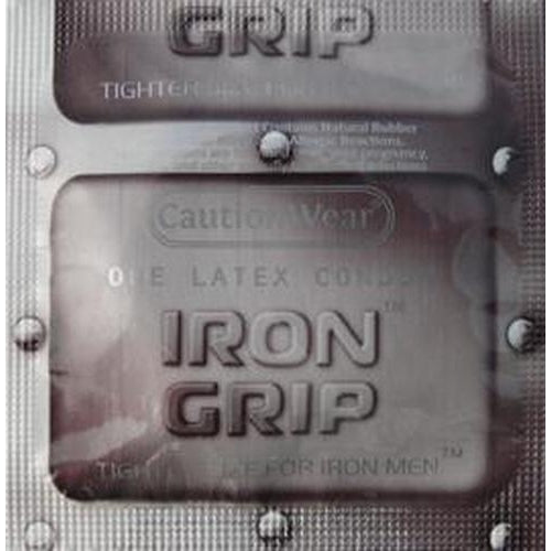 Caution Wear Iron Grip Snug Fitting Lubricated Latex Condoms