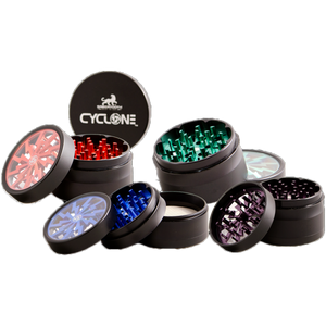 Affordable 2.5 inch Cyclone Grinder-mixed colors  ideal for smoking