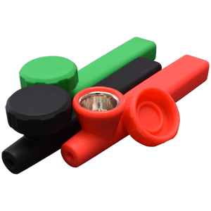 Silicone Hand Pipe - Mix Colors Affordable Hand Pipe for Smoking Use