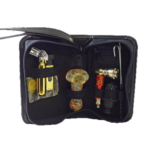 Travel Kit with Torch, Glass Spoon and Metal Hand Pipe Affordable Hand Pipe for Smoking Use