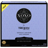 Trojan Xoxo Aloe-Infused Premium Latex Thin Condoms 24 pack