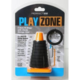 Play Zone Kit 9 Xact Fit Rings with Sturdy Storage Cone