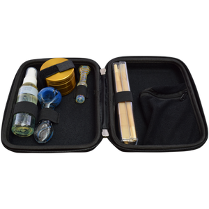 Travel Kit with Handpipe, Chillum, Grinder, Cones, Air Freshner & Lock Affordable Hand Pipe for Smoking Use