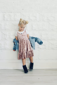 blush velvet dress kids fashion