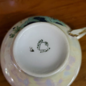 Pheasant w Floral Iridescent China Set