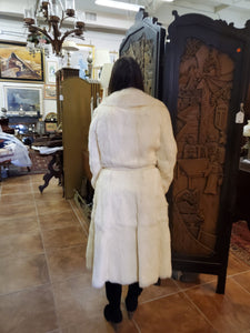 White Full Length Fur Coat