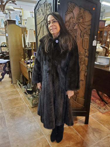 Brown Full Length Mink Coat