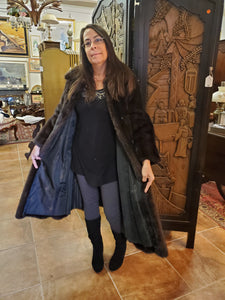 Full Length Brown Mink Coat