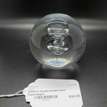 Double Bubble Glass Paperweight