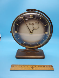 Vintage Zentra German Brass Art Deco Clock