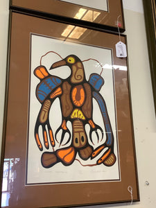 "Norval Morrisseau ""Ojibway Thunderbird"""