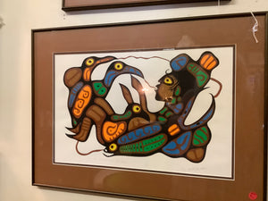 "Norval Morrisseau ""My Grandson And The Birds"""