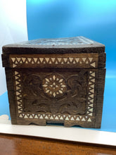 Carved Wood Cigar Box