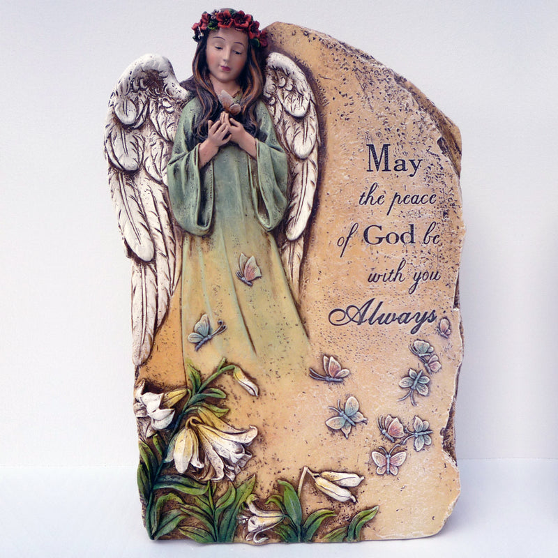 "Angel Plaque ""May the Peace of God be with you Always"""