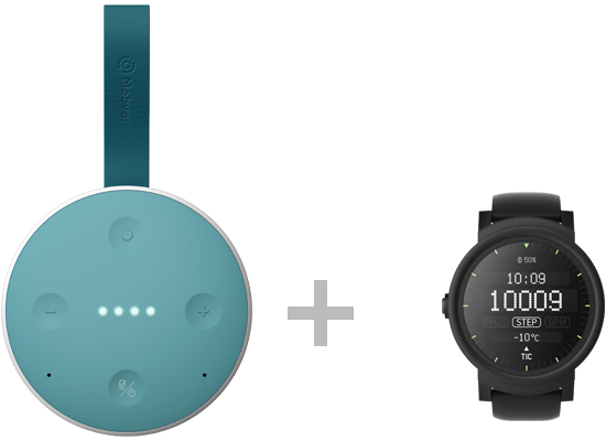 TicHome Mini Teal x TicWatch E