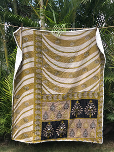 Symbology Silky Sherpa Kantha Throw