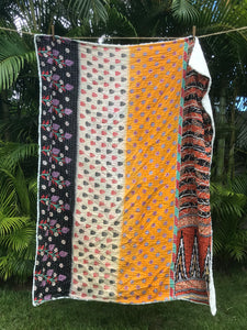 Southwest Silky Sherpa Kantha Throw