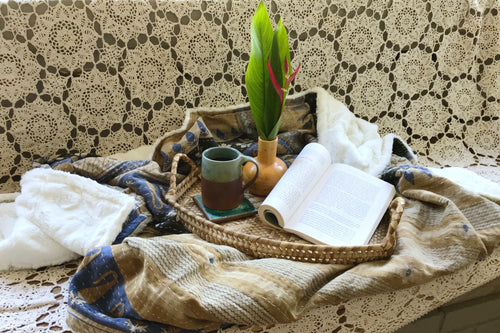 Fairlight Sherpa Kantha Throw