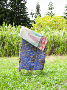 Periwinkle Kantha Quilt