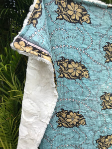 Vida Blues Silky Sherpa Kantha Throw