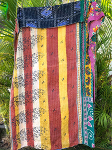 Electric Kantha Quilt