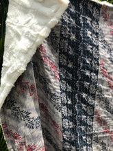 Midnight Silky Sherpa Kantha Throw