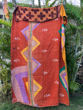 Copper Leaf Kantha Quilt