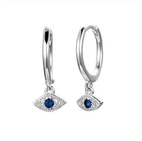 Silver Eye Dangle