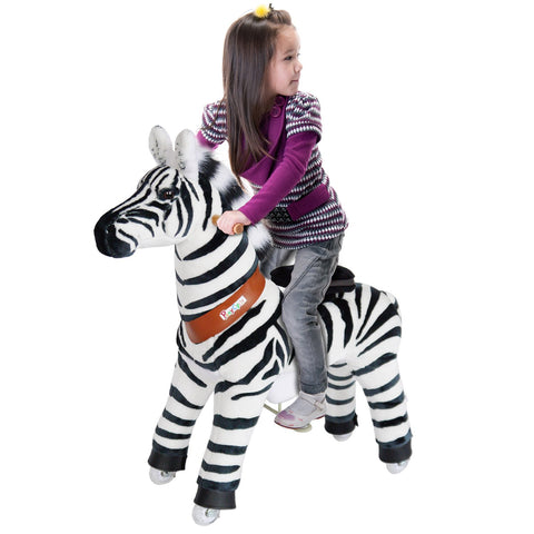 Vroom Rider x PonyCycle VR-N4012 Ride-On Zebra for 4-9 Years Old - Medium