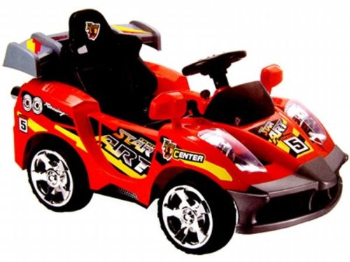 Mini Motos Mm-gb5188_red Star Car 6v Red (remote Controlled)