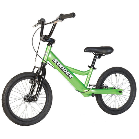 Strider 16 Sport No-Pedal Balance Bike - GREEN - Peazz.com
