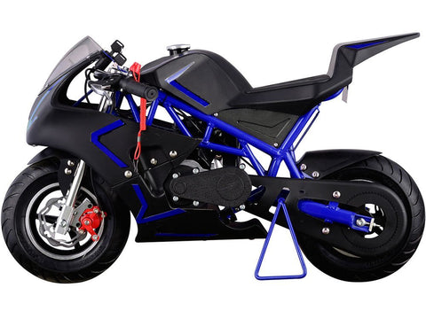 MotoTec MT-GP-Cali-Blue Cali Gas Pocket Bike 40cc Blue - FunRidingToys.com