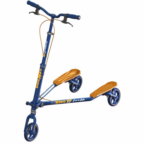 Go-Kiddo GK-T7-BU T7 Carving Scooter - Blue - FunRidingToys.com