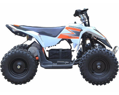 MotoTec MT-ATV3_White Mini Electric Quad Battery-Powered v3 White