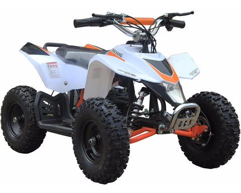 MotoTec MT-ATV3_White Mini Electric Quad Battery-Powered v3 White - FunRidingToys.com