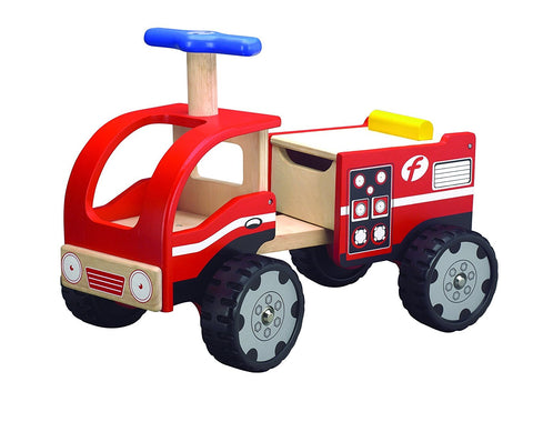 Wonderworld Toys WW-4031 Ride On Fire Engine - FunRidingToys.com