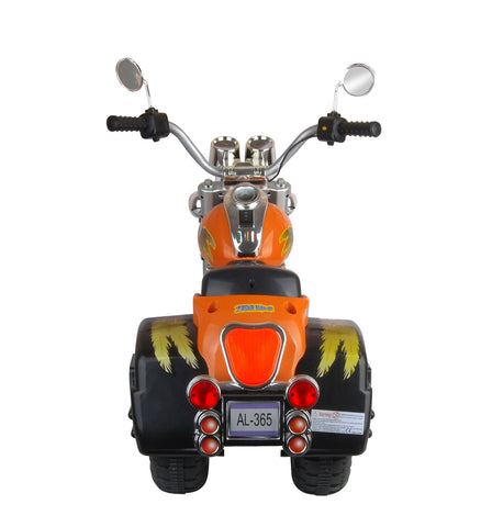 Harley Style Kid's Chopper Style Motorcycle - Orange - FunRidingToys.com