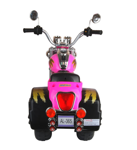 Vroom Rider AL-365-PNK Harley Style Chopper Style Limited Edition Motorcycle - Pink