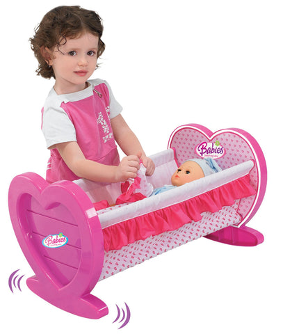 Berry Toys BR008-08 Babies Doll Lovely Rocking Cradle - FunRidingToys.com