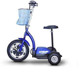 EWheels Ew-18B Stand/Ride Scooter With Folding Tiller- Blue - FunRidingToys.com